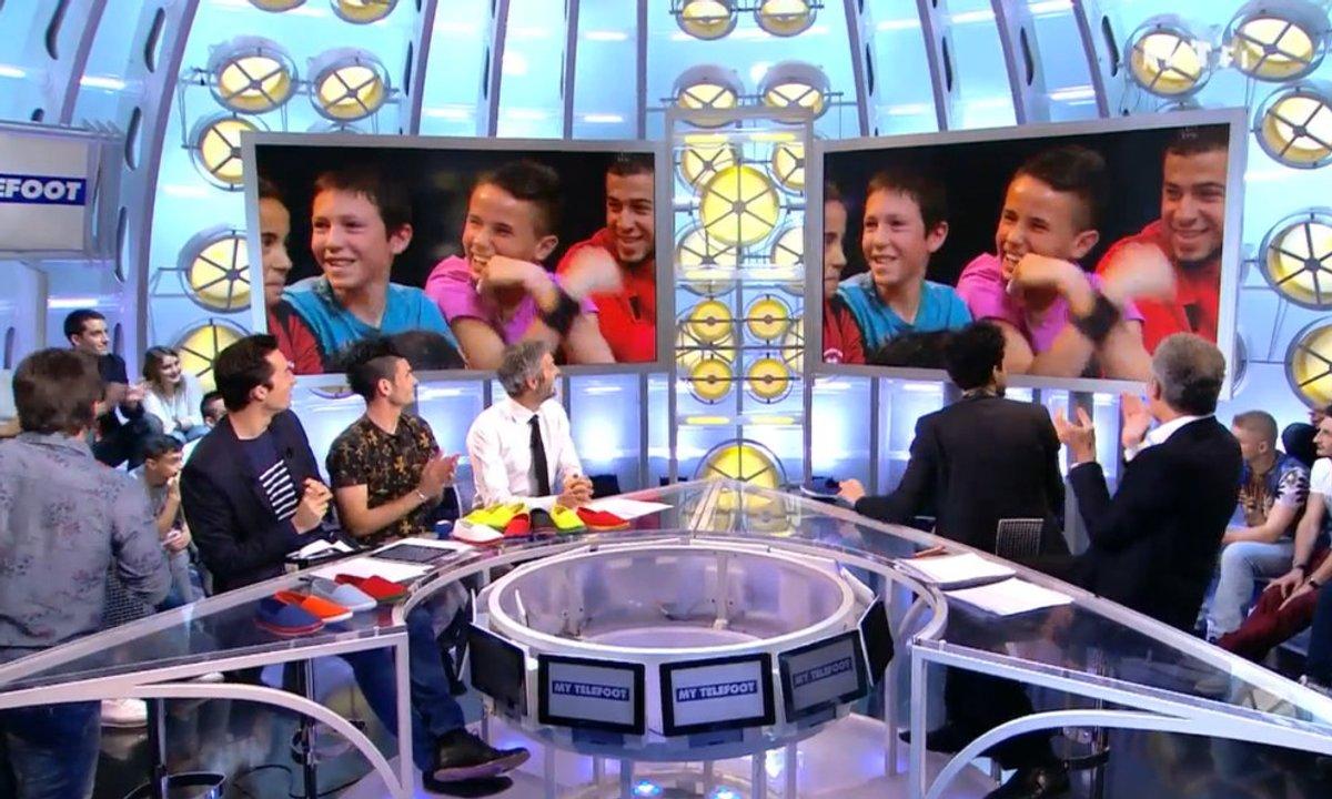 La surprise MyTELEFOOT : 2 enfants du public découvrent qu'ils vont s'entraîner avec l'équipe de France !