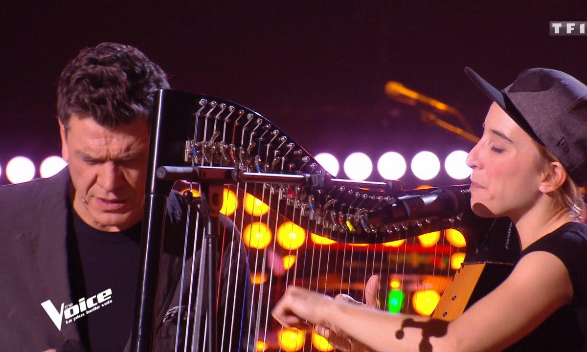 THE VOICE 2020 - Standing ovation pour Marc Lavoine et Gustine et leur reprise « Les yeux revolver » à la harpe