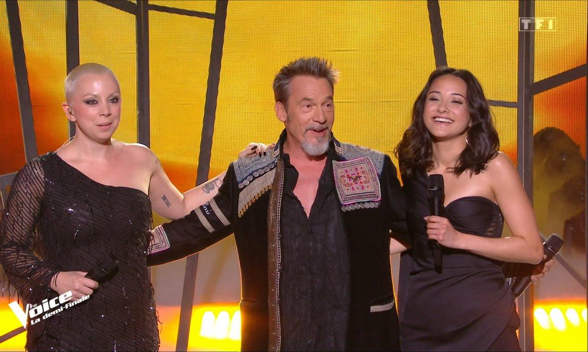 """The Voice 2021 – Marghe, Giada et Florent Pagny chantent """"Vivo per lei"""" de d'Hélène Ségara et Andrea Bocelli (Demi-finale)"""