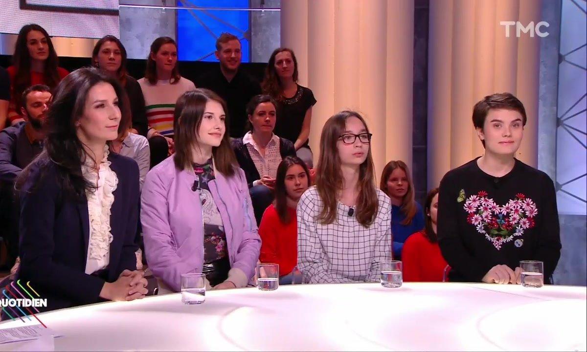 """Marie Drucker, Héloïse, Alice et Joséphine, enfants précoces, présentent """"Le courage de grandir"""""""