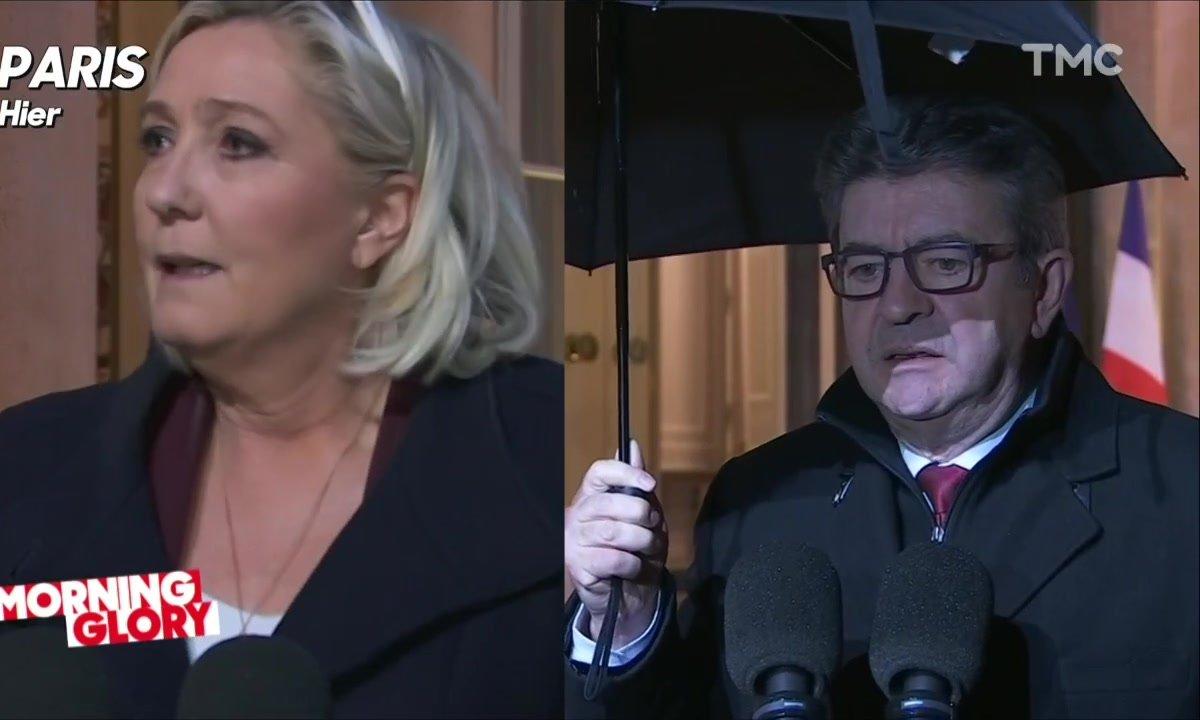 Marine Le Pen et Jean-Luc Mélenchon reçus par Emmanuel Macron: comme un certain mimétisme