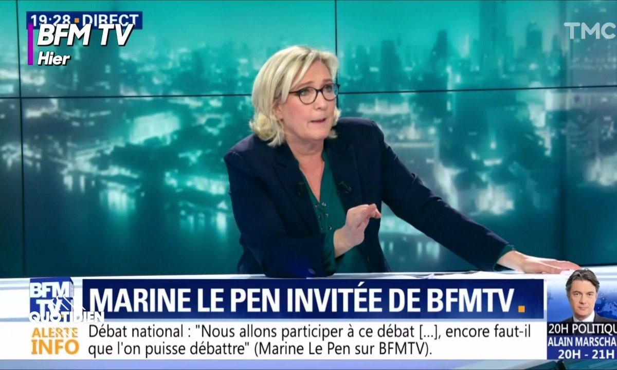 Marine Le Pen et la presse: faites ce que je dis, pas ce que je fais