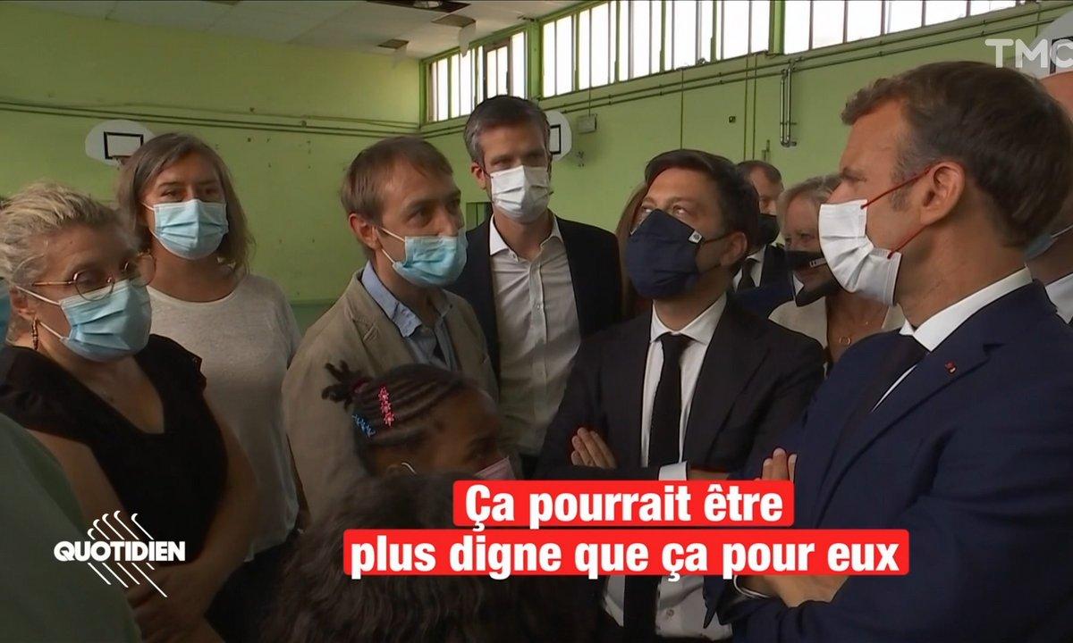 """Marseille : """"Nos élèves méritent mieux que ça"""", le plaidoyer d'un enseignant face à Emmanuel Macron"""