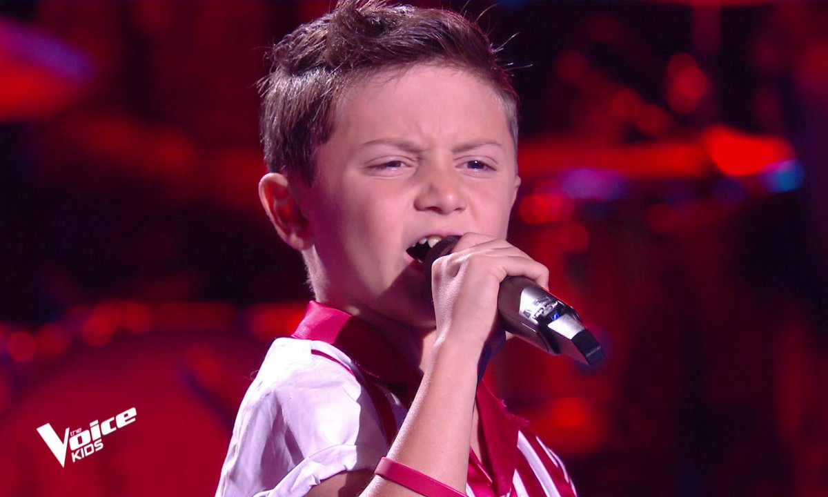 "The Voice Kids - Matteo chante ""Rock'n'roll man"" de Johnny Hallyday"