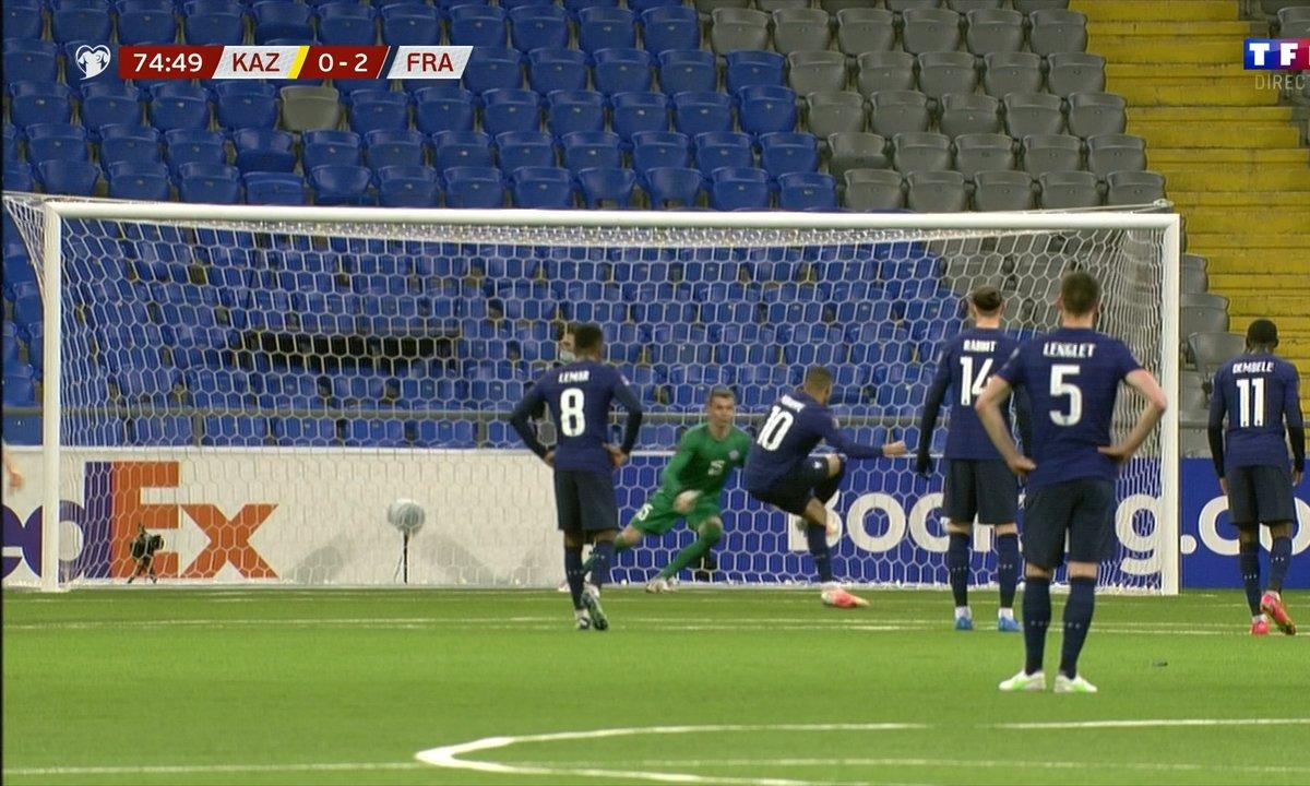 Kazakhstan - France (0 - 2) : Voir le penalty de Mbappé en vidéo