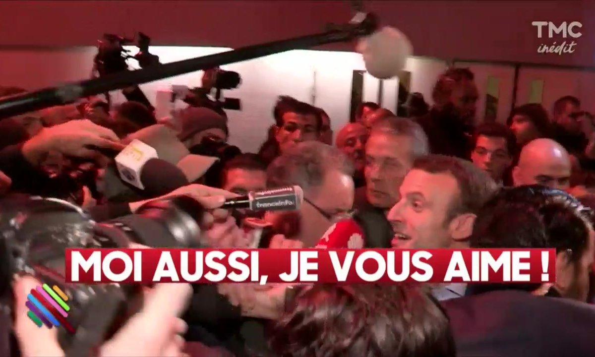 Le meeting d'Emmanuel Macron, coté coulisse