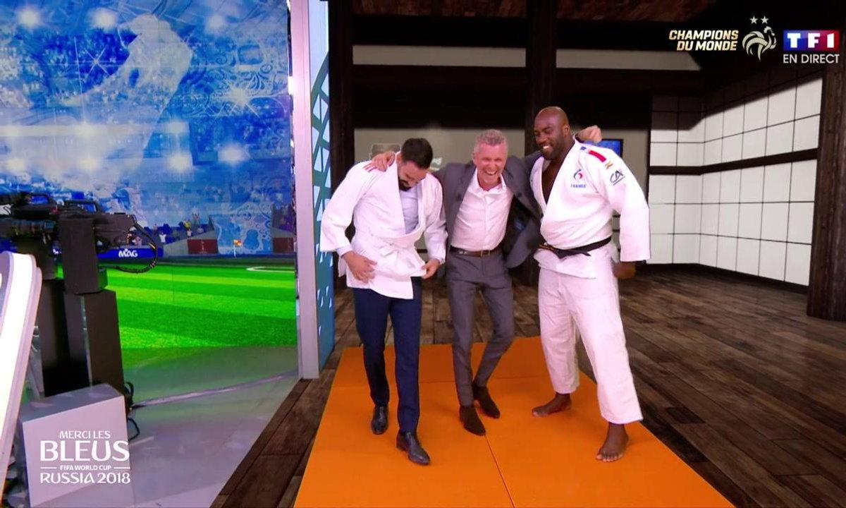 Merci les Bleus : Adil Rami sur le tatami face à Teddy Riner !