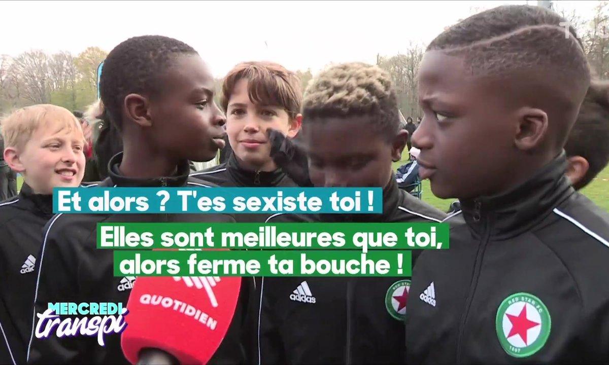 Mercredi Transpi : les jeunes footballeurs ont un message pour les Bleues