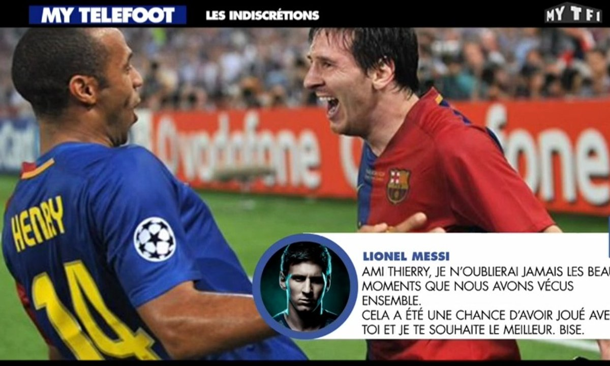 MyTELEFOOT - Les Indiscrétions : hommages à Thierry Henry