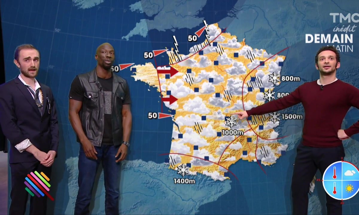 La météo du 18 novembre par William et Doudou de la Fine Equipe
