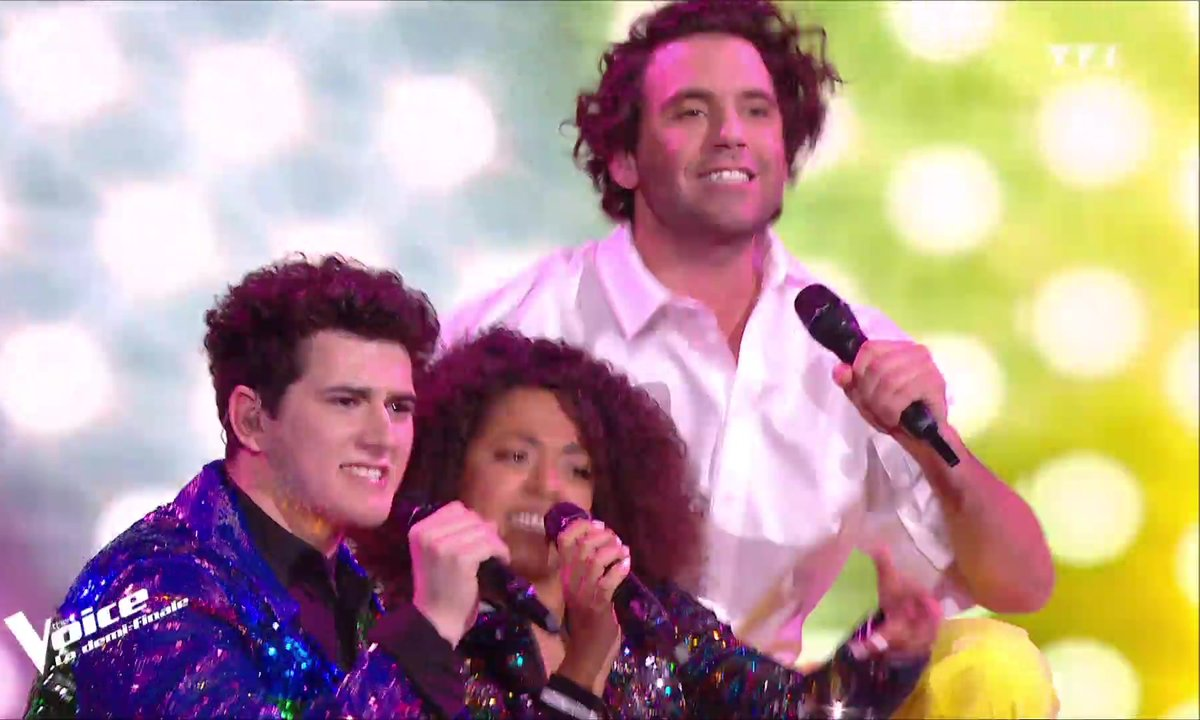 Mika,Whitney et Gjon's Tears « Relax, Take It Easy » pour la demi-finale
