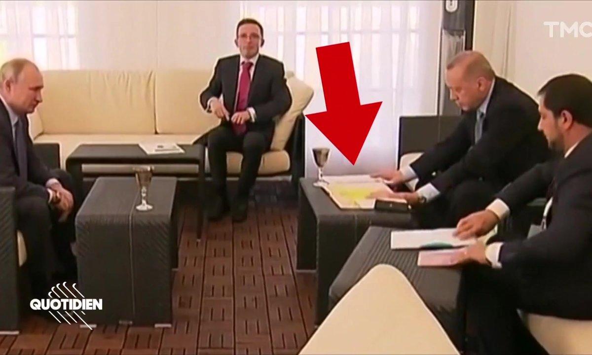 Moment de flottement pendant la rencontre Erdogan-Poutine