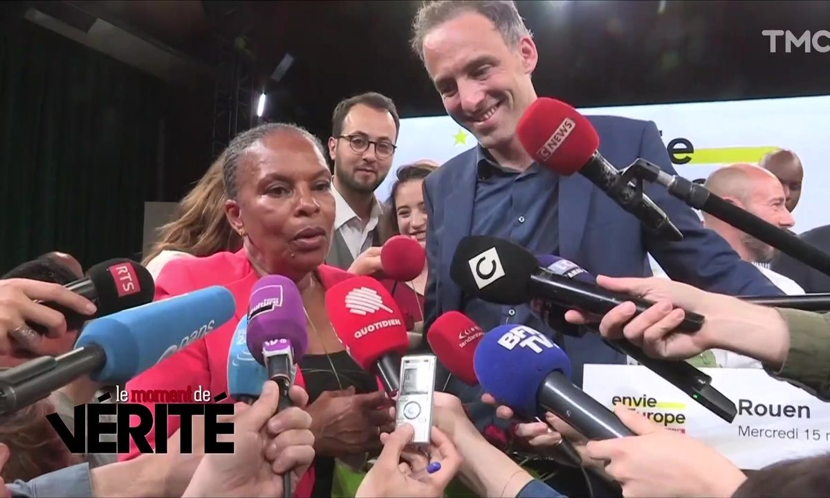 Le Moment de vérité : Christiane Taubira vient au secours de Raphaël Glucksmann et du PS