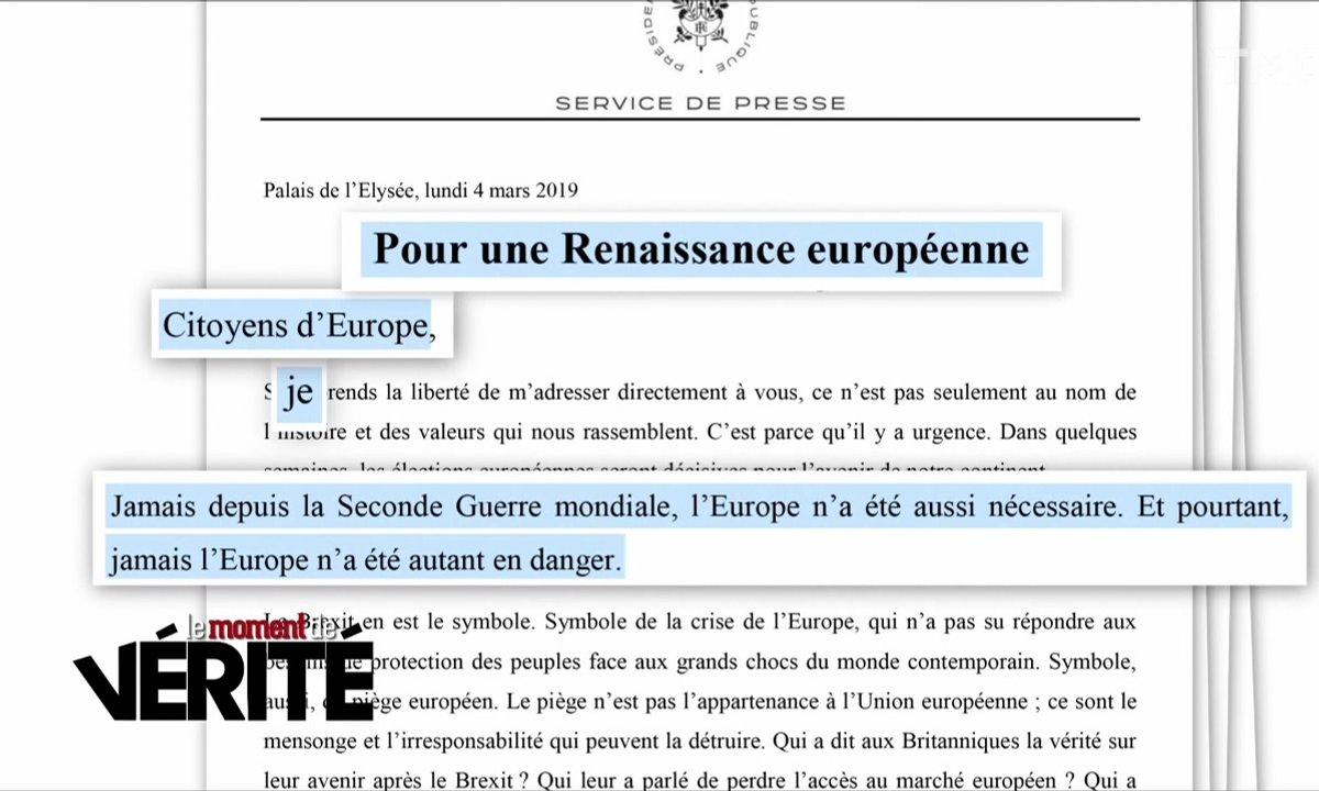 Le Moment de vérité : la tribune d'Emmanuel Macron pour les élections européennes