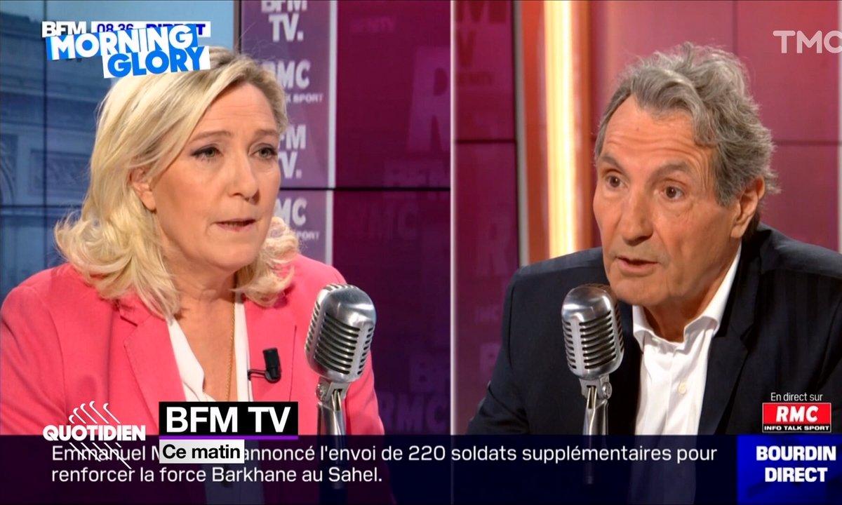 Morning Glory : Bourdin aura tout essayé pour avoir l'avis de Marine Le Pen sur la grève
