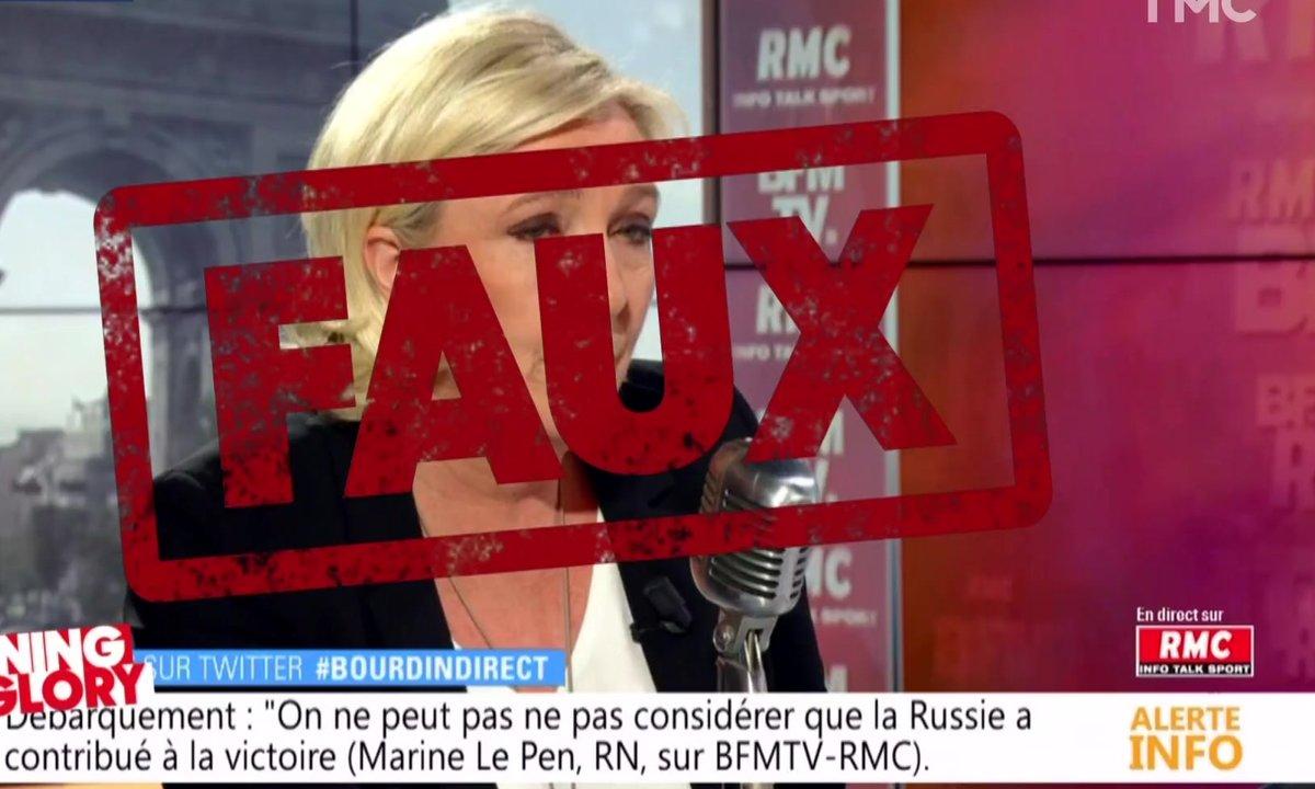 Morning Glory : les grosses fake news de Marine Le Pen sur Donald Trump