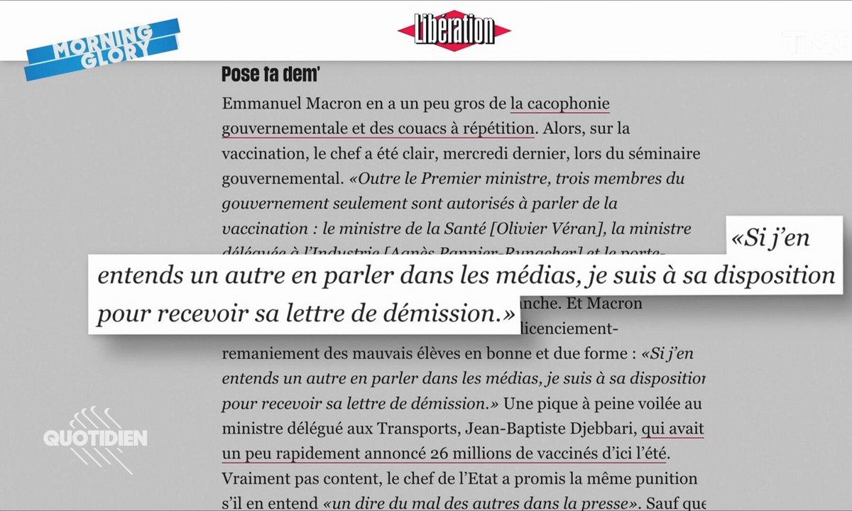 Morning Glory: Macron menace de virer quiconque l'ouvre sur le vaccin, mais est-ce que ça marche ?