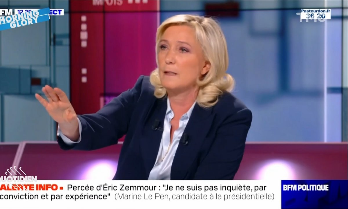 Morning Glory : Marine Le Pen revient à elle