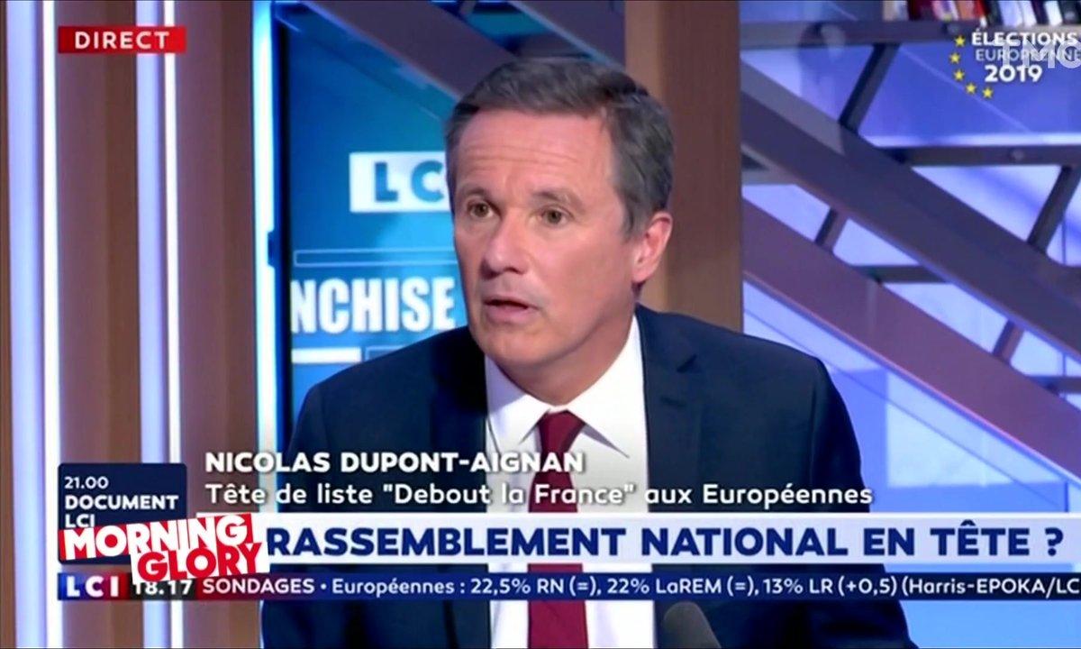 Morning Glory : pour UNE FOIS on est d'accord avec Nicolas Dupont-Aignan