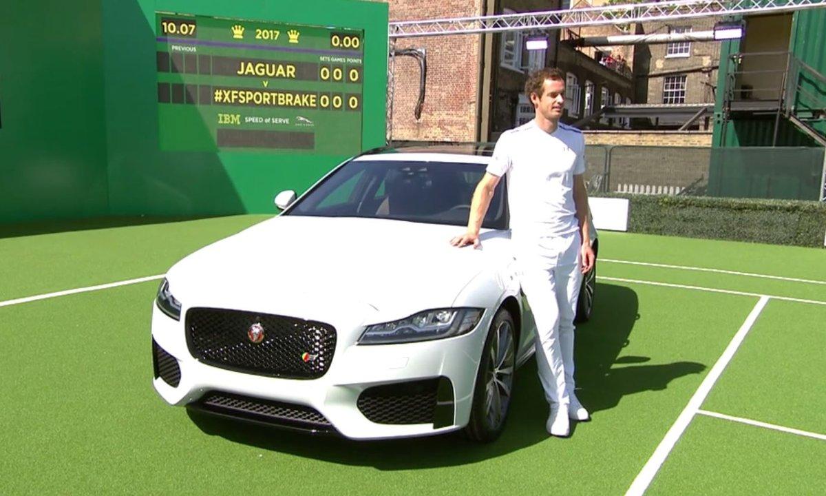 Andy Murray présente la nouvelle Jaguar XF Sportbrake !