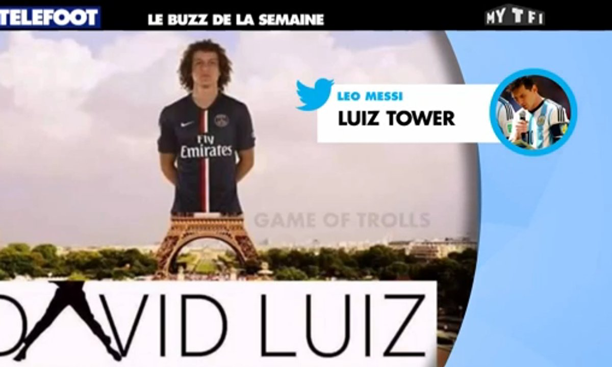 MyTELEFOOT - Le Buzz : David Luiz humilié sur les réseaux sociaux !