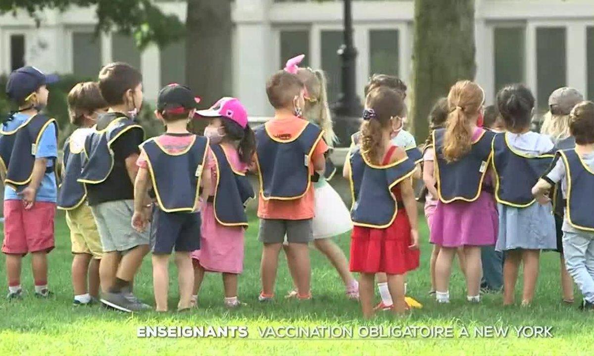 New York : la vaccination anti-Covid imposée aux enseignants