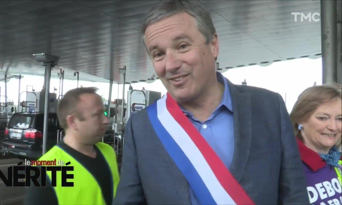 Quand Nicolas Dupont-Aignan bloquait l'autoroute dans le mauvais sens
