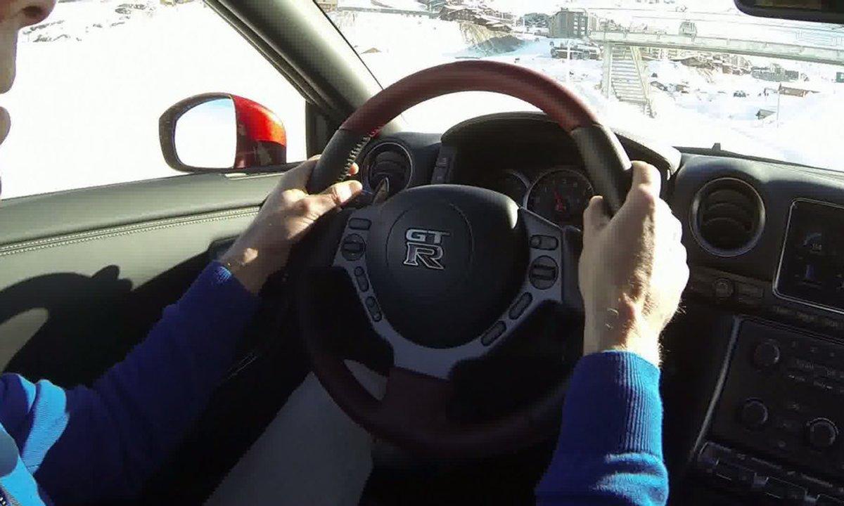Bonus Web : Embarquez dans la Nissan GT-R 2014 à Val Thorens !