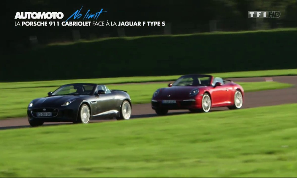 No Limit : Jaguar F-Type V6 S vs Porsche 911 Carrera Cabriolet
