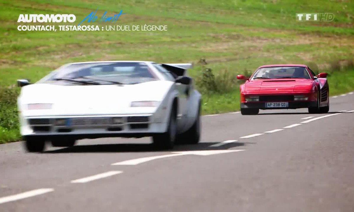 No limit : Lamborghini Countach contre Ferrari Testarossa