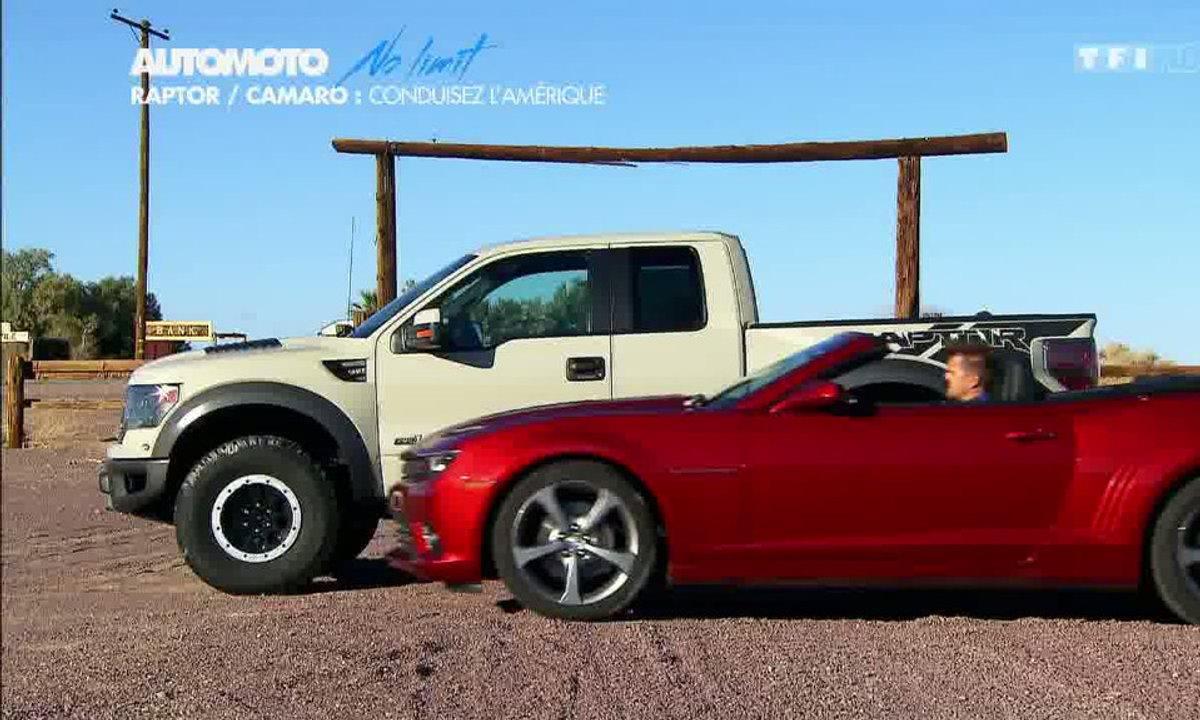 No Limit : Ford F-150 Raptor contre Chevrolet Camaro V8