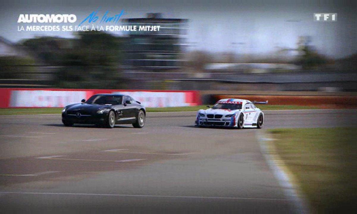 No Limit : Mercedes SLS AMG contre formule Mitjet, le duel