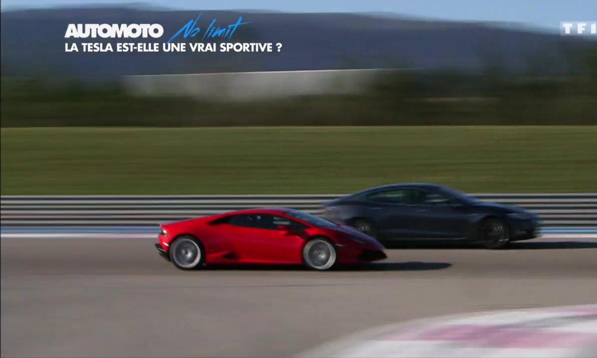 No Limit : Tesla Model S face à Mercedes-AMG GT et Lamborghini Huracan