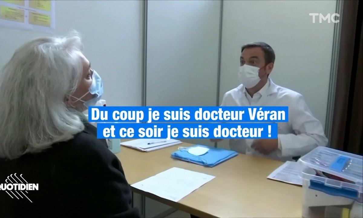 Olivier Véran a mis sa plus belle blouse blanche pour vous vacciner