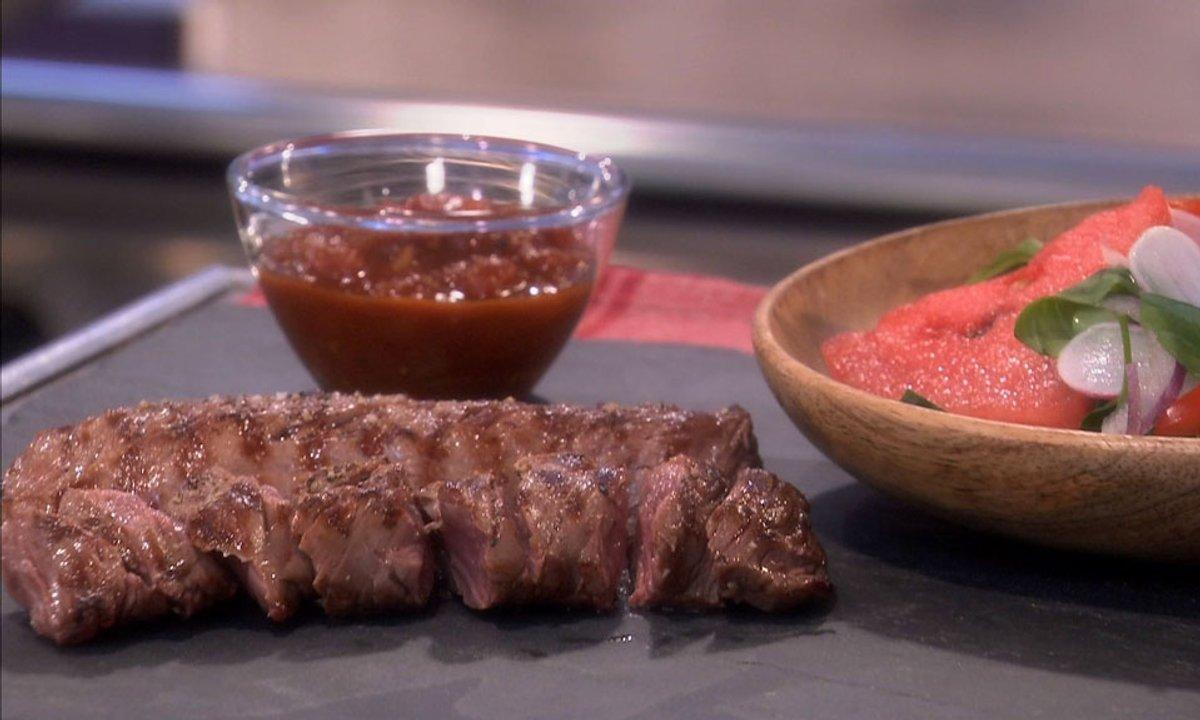Préparer Un Barbecue Pour 20 Personnes recette onglet de veau grillé sauce barbecue et salade d'été