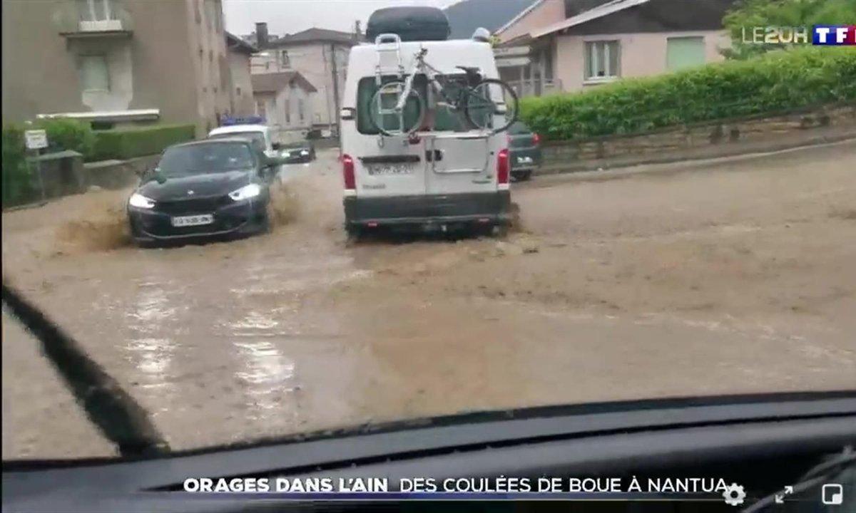 Orages dans l'Ain : inondations et coulées de boue à Nantua