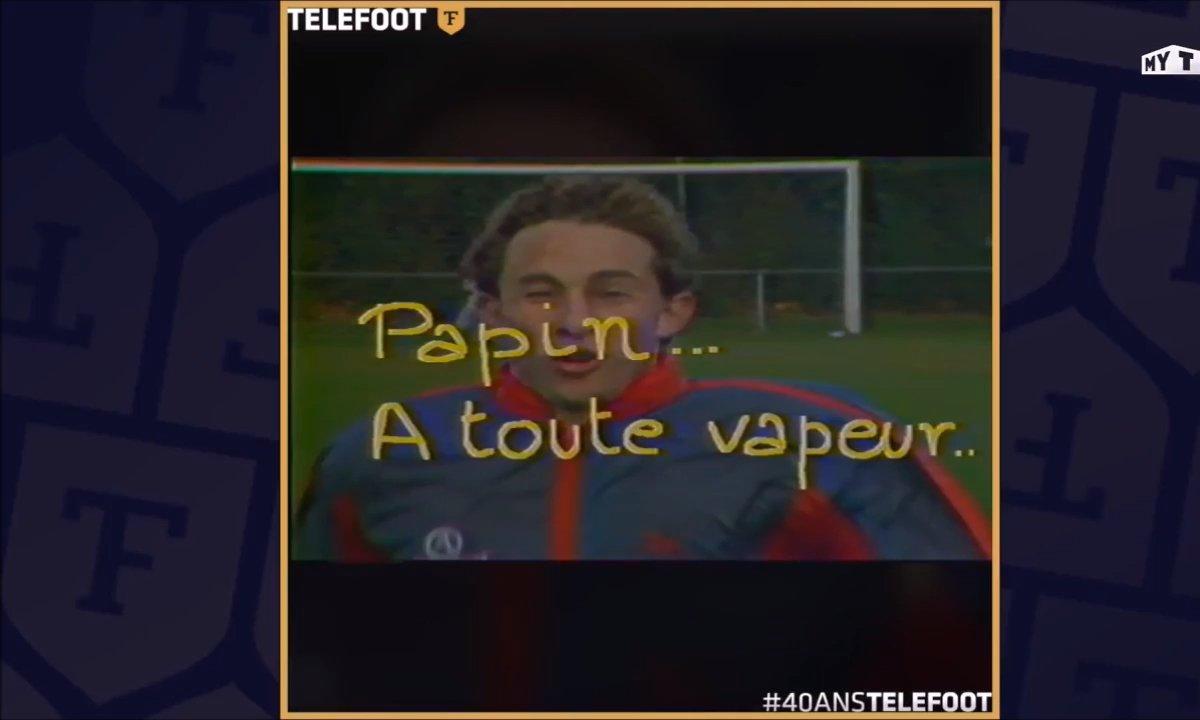 Portrait du jeune Jean-Pierre Papin, joueur du FC Bruges (1985)