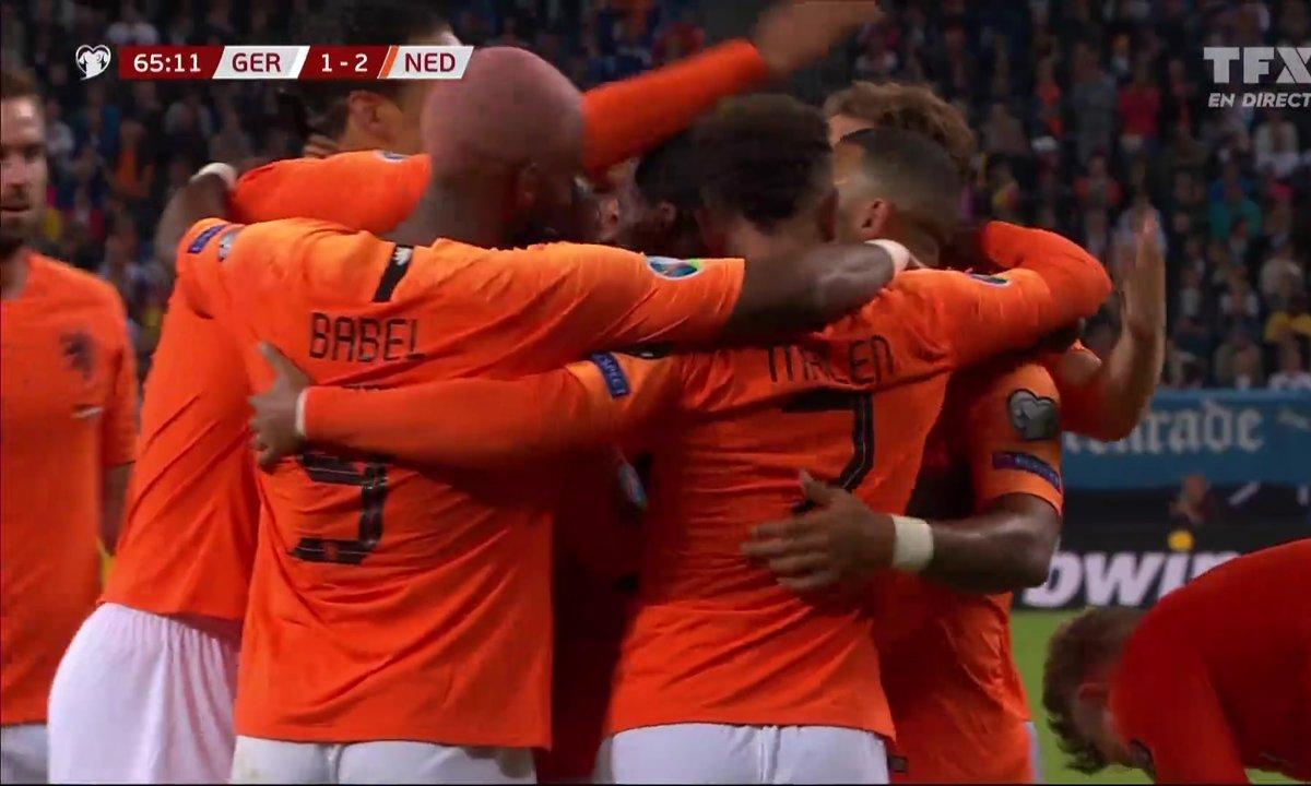 Allemagne - Pays-Bas (1 - 2) : Voir le but csc de Tah en vidéo