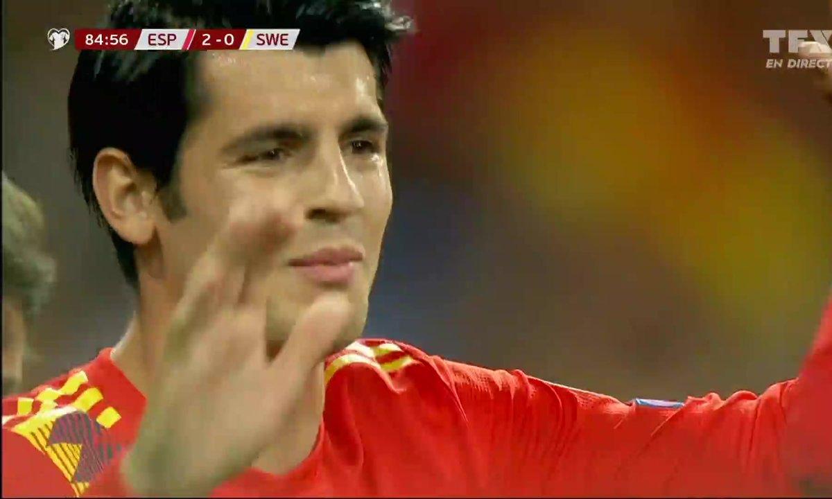 Espagne - Suède (2 - 0) : Voir le but sur penalty de Morata en vidéo