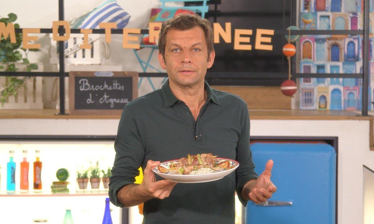 Brochettes d'agneau, sauce tahini