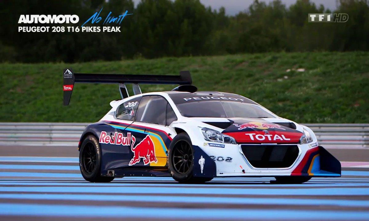 No Limit : la Peugeot 208 T16 Pikes Peak sur circuit !