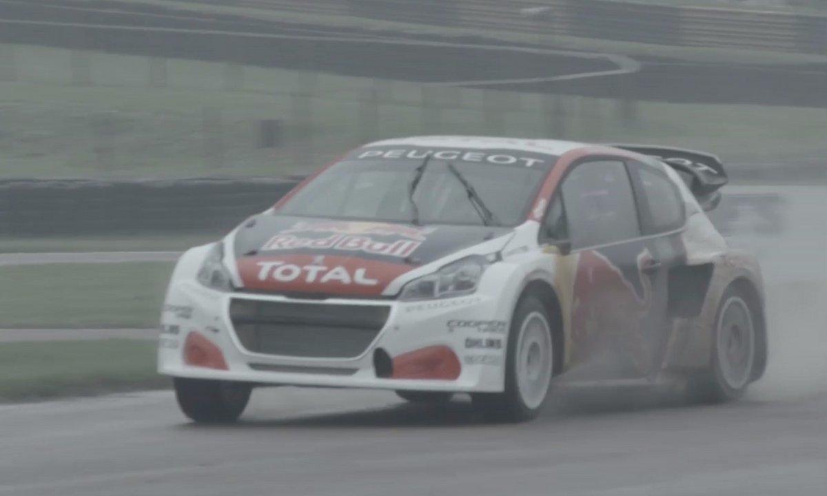 Rallycross 2017 : La Peugeot 208 WRX de Loeb et des frères Hansen