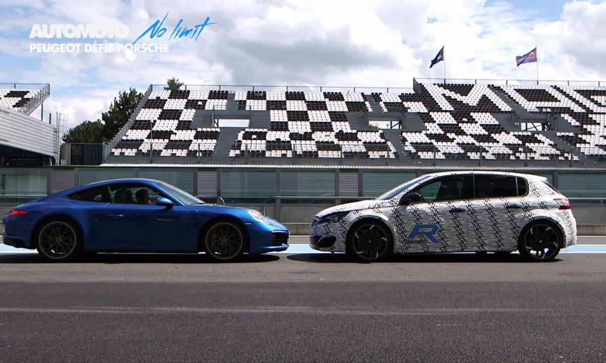 No Limit : La Peugeot 308 R Hybrid défie Porsche sur circuit
