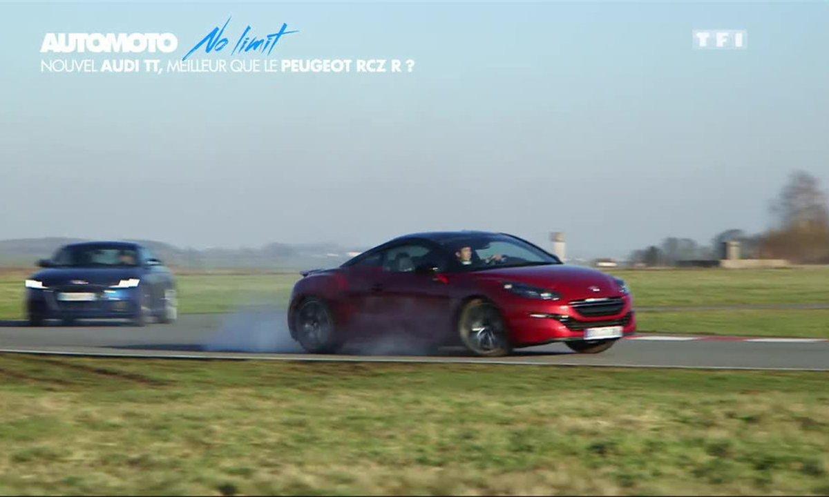 No Limit : Le nouvel Audi TT défie le Peugeot RCZ R