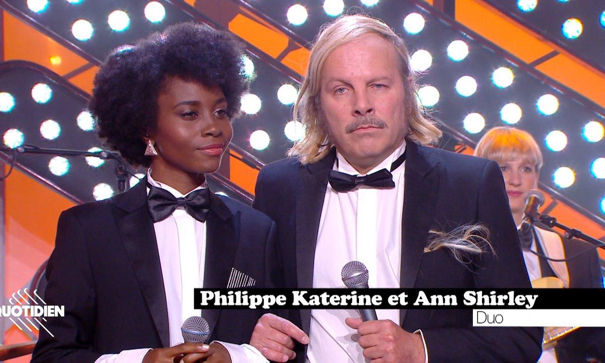 """Philippe Katerine et Ann Shirley : """"Duo"""" en live pour Quotidien (exclu web)"""