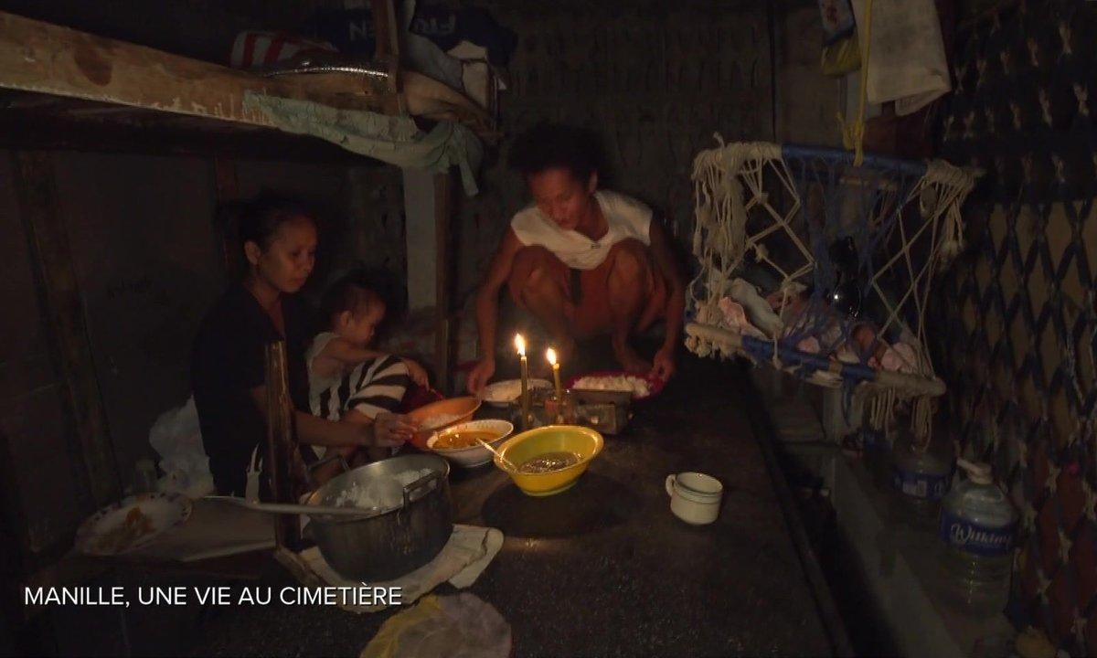 Philippines : ces familles vivent dans le plus grand cimetière de Manille