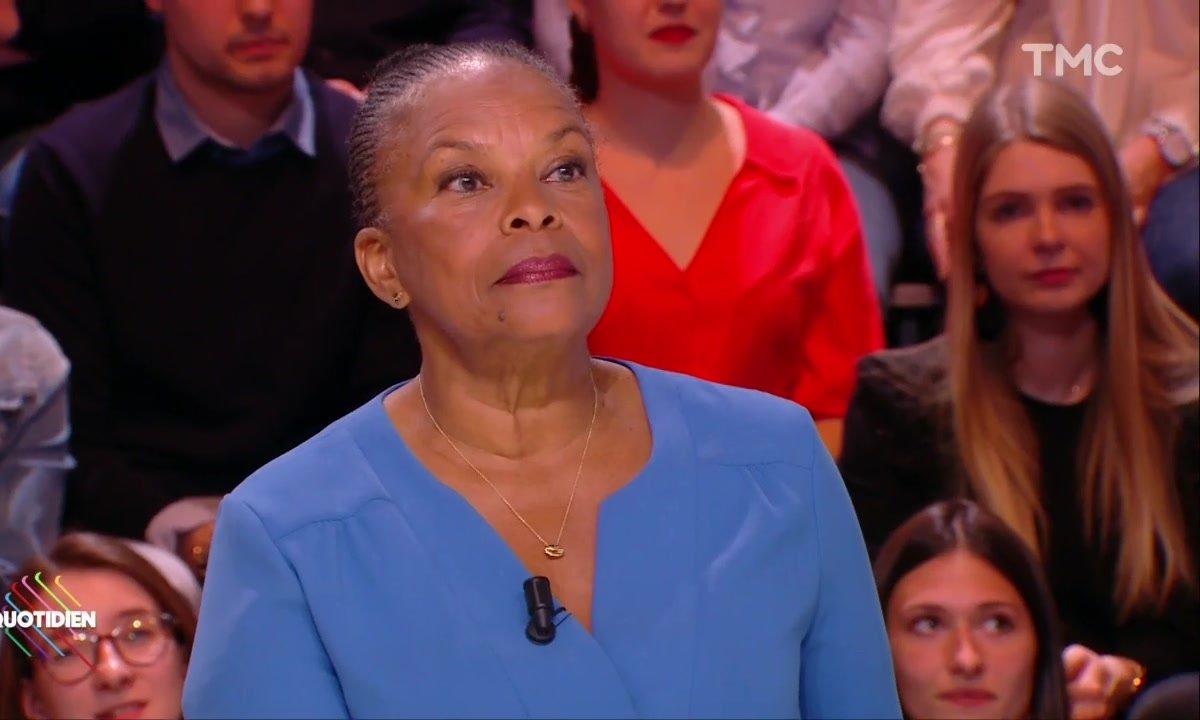 """Poignées de mains Trump/Macron : Christiane Taubira suggère """"moins de testostérone à la tête des États"""""""