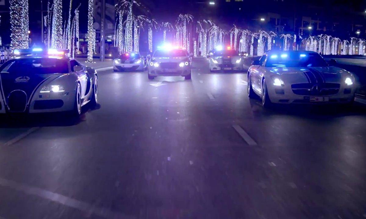 Insolite : Quand la police de Dubaï fait son show !