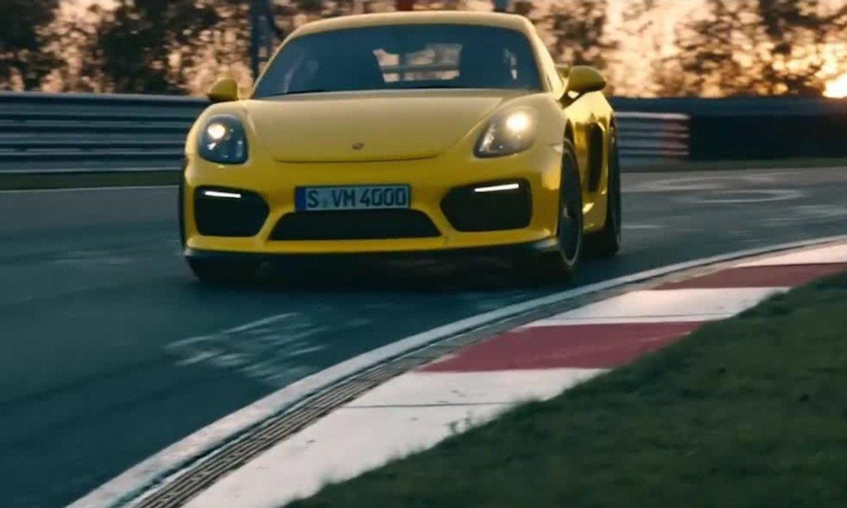 La Porsche Cayman GT4 2015 sur le circuit Nürburgring Nordschleife