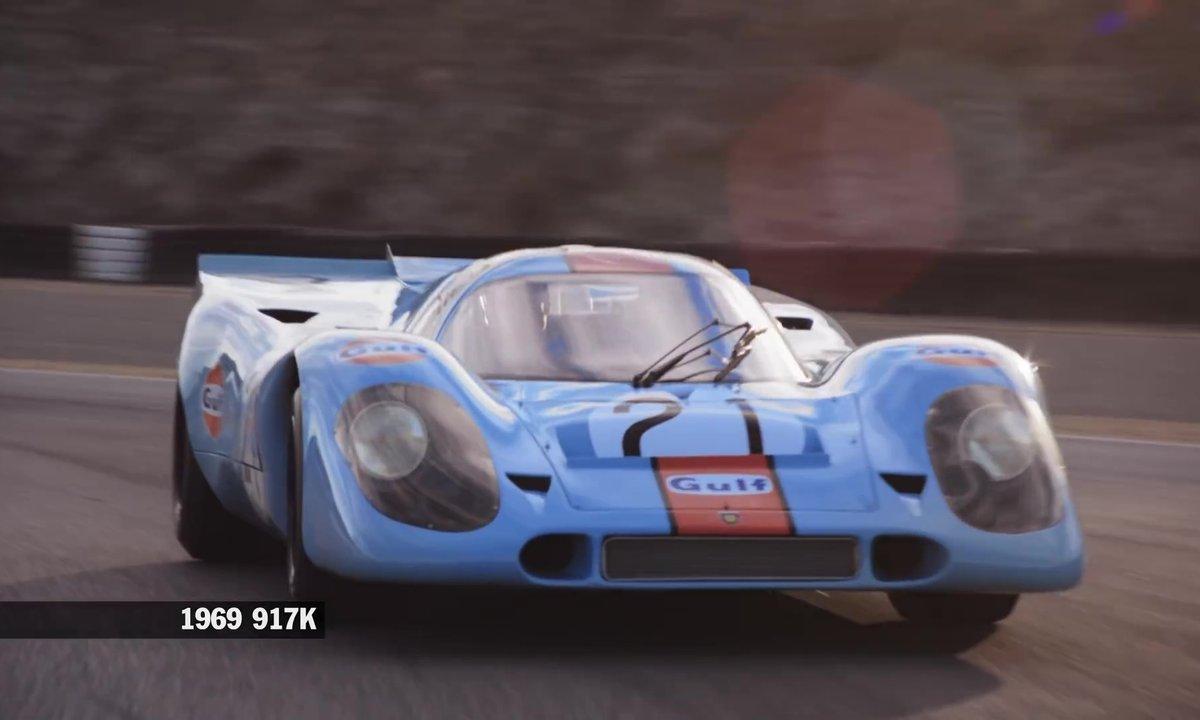 Les voitures de course Porsche de 1953 à 2015 à la Rennsport Reunion